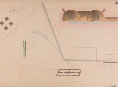 Velabro, planimetria dei resti antichi esistenti fra San Giorgio e Santa Anastasia