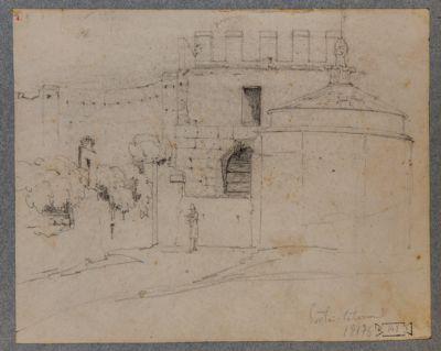 Porta Latina con veduta di S. Giovanni in Oleo