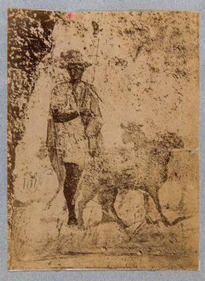 Colombari degli Statili, affresco raffigurante un pastore (Faustolo o Romolo)