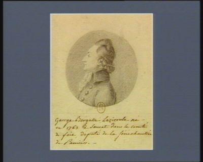 George Bergasse-Laziroule né en 1763 à Sauvat dans le comté de Foix deputé de la sénéchaussée de Pamiers : [dessin]