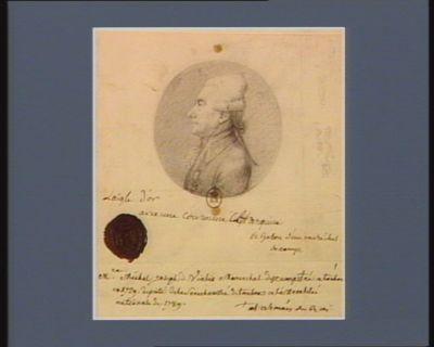 M.re Michel Joseph de Vialis maréchal des camps et armée du Roi, né à Toulon en 1729 député de la sénéchaussée de Toulon à l'Assemblée nationale de 1789 : [dessin]