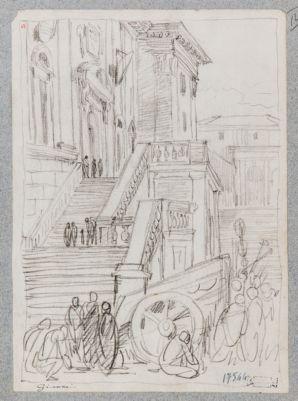 Campidoglio, scala esterna Palazzo Senatorio