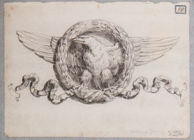 Foro Traiano, particolare dell'aquila del bassorilievo del portico di SS. Apostoli