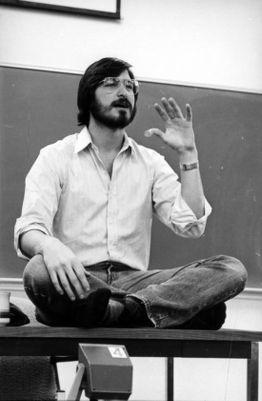 Steve Jobs speaking at the Graduate School of Business