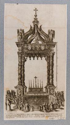 Chiesa di S. Pietro in Vaticano. Baldacchino del Bernini