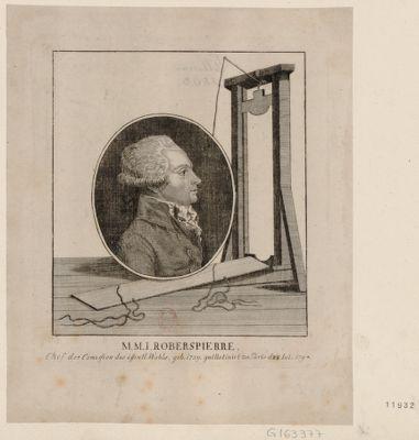 M.M.I. Roberspierre Chef der Comission des Öffentl. Wohls... : [estampe]
