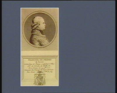 François de Pierre de Bernis archevêque de Damas coadjuteur d'Alby. Ch.er de l'ordre de Malthe &c. Né à Nismes le 29 9.bre 1752 député du clergé de Carcassonne aux Etats g.raux de 1789 : [estampe]