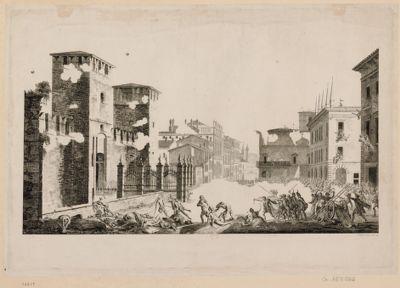 L' Assassinat des Français à Véronne, en Italie, le 28 germinal an 5.ème de la Republique française [estampe]