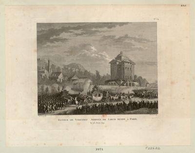 Retour de Varennes. Arrivée de Louis Capet <em>à</em> Paris le 25 juin 1791 : [estampe]