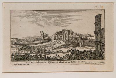 Veduta di S. Stefano Rotondo e del Colosseo
