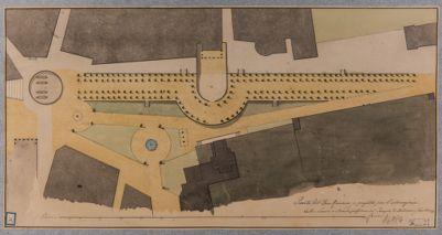 Foro Romano, tempio di Antonino e Faustina, pianta relativa alla zona
