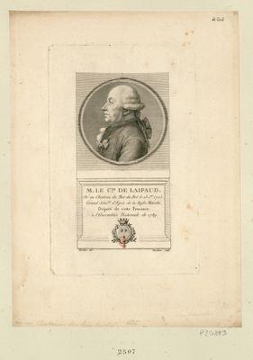 M. le C.te de Laipaud né au chateau du Mat du Bot le 13 j.er 1725, grand séné.al d'épée de Basse Marche, député de cette province à l'Assemblée nationale de 1789 : [estampe]