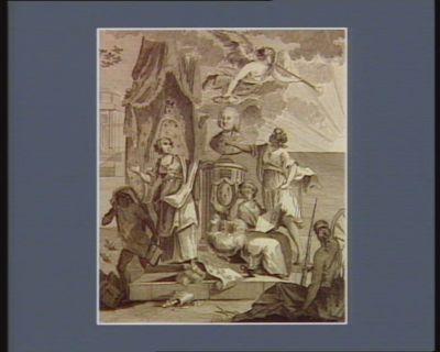 Allégorie au sujet de l'élévation de Monsieur d'Ormesson à la dignité de premier président du Parlement de <em>Paris</em> composée le 15 octobre 1788 [estampe]