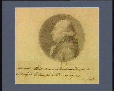 Jean-Marie Bion avocat au Parlement député du bailliage de Loudun né à Loudun le 28 aout 1730 : [dessin]