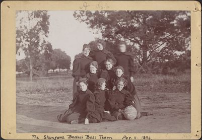 Athletics -- women's basketball -- team pictures, 1896