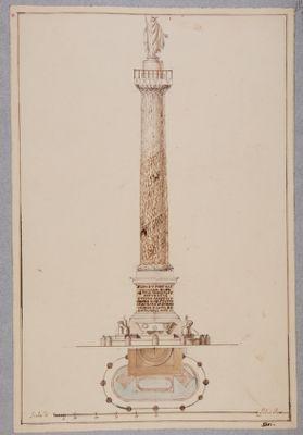 Colonna Antonina. Progetto di fontana alla base del monumento