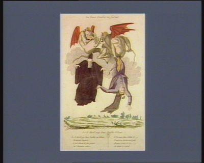 Les  Deux diables en fureur le 13 avril 1790 deux diables volant... : [estampe]