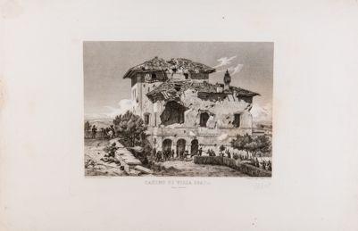 Villa Spada dopo il bombardamento del 1849