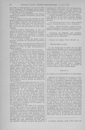 Tome 76 : Du 4 au 18 octobre 1793 - page 10
