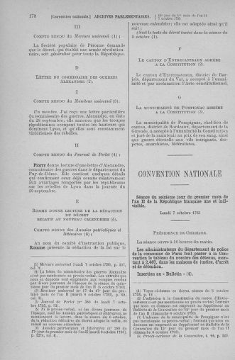 Tome 76 : Du 4 au 18 octobre 1793 - page 178