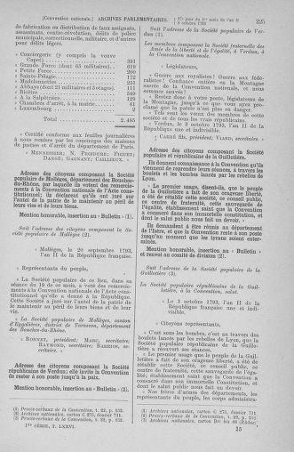 Tome 76 : Du 4 au 18 octobre 1793 - page 225
