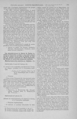 Tome 76 : Du 4 au 18 octobre 1793 - page 379