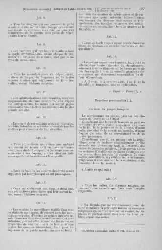 Tome 76 : Du 4 au 18 octobre 1793 - page 687