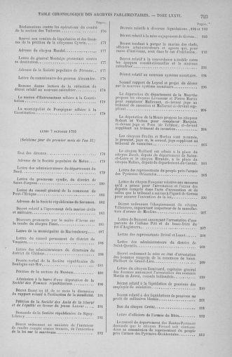Tome 76 : Du 4 au 18 octobre 1793 - page 723