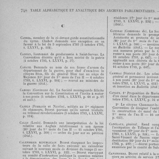 Calendrier Republicain 1793.Archives Numeriques De La Revolution Francaise Tome 76 Du
