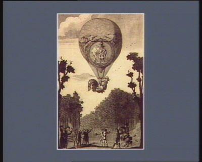 Expérience faite au Champs Elisés le 18 7.bre 1791, jour de la proclamation de la Constitution dédié à la municipalité de Paris par l'auteur B.L. St Cr... : [estampe]