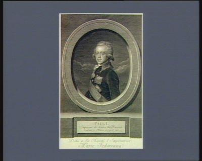 Paul I Empereur de toutes les Russies couronné à Moscou le 5 avril 1797 : [estampe]