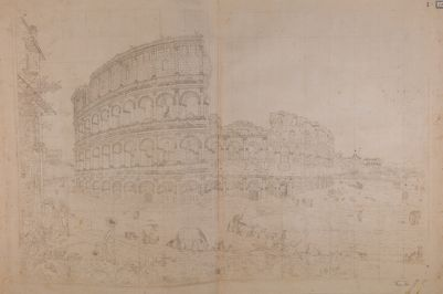 Colosseo, esterno. Grande veduta d'insieme