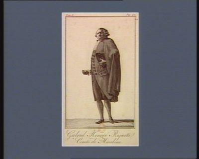 Gabriel Honoré Riquetti, comte de Mirabeau [estampe]