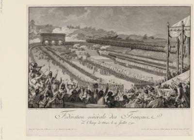 Fédération générale des Français <em>au</em> <em>Champ</em> <em>de</em> <em>Mars</em>, le 14 juillet 1790 [estampe]