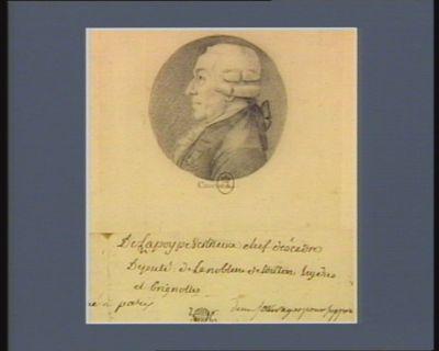 De La Poype-Vertrieux chef d'escadre député de la noblesse de Toulon Hyères et Brignolles... : [dessin]