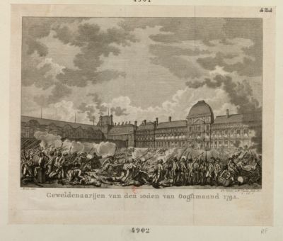 Genveldenaarijen van den 10den van Oogstmaand <em>1792</em> [estampe]
