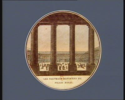 Les  Nouveaux batimens du <em>Palais</em> <em>Royal</em> [estampe]