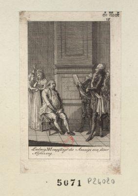 Ludwig XVI empfängt die Anzeige von seiner Absezzung [estampe]