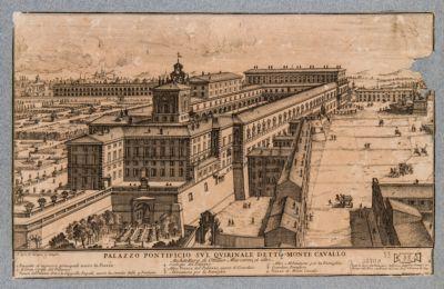 Palazzo del Quirinale, veduta generale (a volo d'uccello)