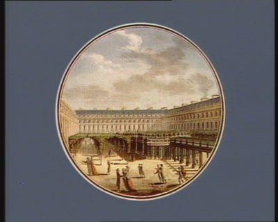 Vue du jardin du Palais Royal, avec le nouveau Cirque [estampe]