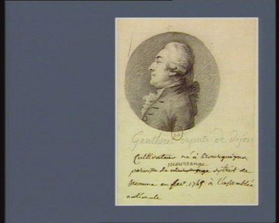 Gantheret député de Dijon cultivateur né à Bourguignon paroisse de Meursange district de Beaune en fev. 1749 à l'Assemblée nationale : [dessin]