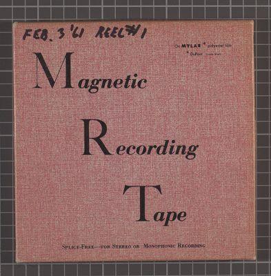 Turk Murphy, rehearsal at Earthquake McGoon's, Feb. 3 1961. reel no. 1