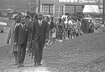 Ben Clark & Rev. William Branch lead voting rights march