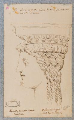 Terme di Agrippa, testa di cariatide