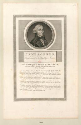 Cambacérès, second Consul de la République francaise [estampe]