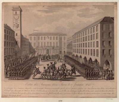 Entrée des Français dans Turin le 17 frimaire an 7 [estampe]