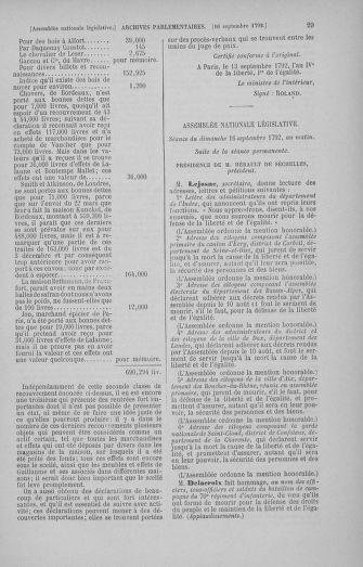 Tome 50 : Du 15 au 21 septembre 1792 - page 29