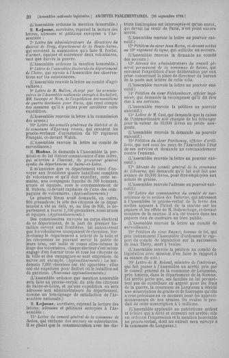 Tome 50 : Du 15 au 21 septembre 1792 - page 30
