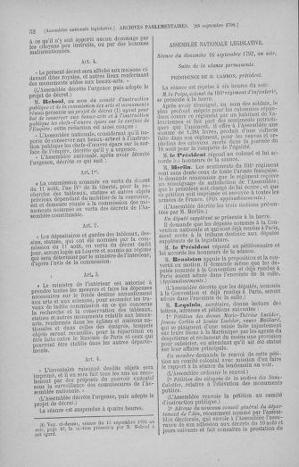 Tome 50 : Du 15 au 21 septembre 1792 - page 52