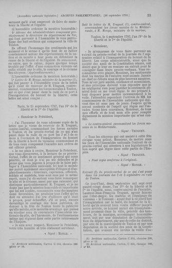 Tome 50 : Du 15 au 21 septembre 1792 - page 53